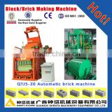 China machine export south africa QTJ 5-20 automatic cement concrete brick block making machine