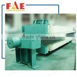 FAE Hydraulic Chamber Filter Press machine / Plate and Frame Filter Press for sewage treatment seperation