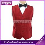 Custom Mens 100% Polyester Waistcoat /Mens Wedding Waistcoat Vest/Mens Wedding Party Vest