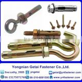 Various wedge Anchor,3PCS/4PCS fix bolts with washer, with eye or hook bolts in good quality