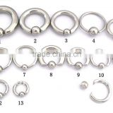 2014 Hotselling 316L surgical stainless steel BCR Piercing Fashion Piercing Jewelry stainless steel BCR