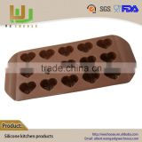 Hot sell Eco-Friendly toblerone chocolate mould DIY chocolate heart shape silicone mold ball