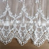 2016 new arrival hand embroidery on mesh fabric lace/netting jacquard lace fabrics for dress