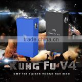 Alibaba china wholesale electronic cigarette smy kungfu v4 mech mod unregulated smy kungfu v4 dual 26650 switch box mod