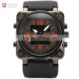 Mens Rubber Band Quartz Analog Military LCD Sport Digital Watch