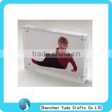 acrylic Sandwich photo block lucite magnetic frame for photo perspex cheap picture paper frames