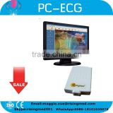 CE ISO mark 12 lead Resting PC base ECG System with Diagnostic Cardiology with PC Software