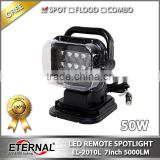 50W spotlight wireless remote search light with magnet 4WD vehicles truck tractor emergency fire truck spot lamp