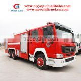 SINOTRUK HOWO 12000L fire truck dimension used fire truck for sale