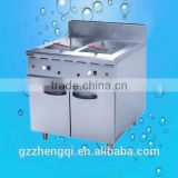 Commercial 2-Tank& 2-Basket Gas Fryer With Cabinet(ZQW-839)