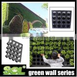Vertical garden green System decorative green wall panel flower pot system SL-Y5012 green wall panel planter f-gardening
