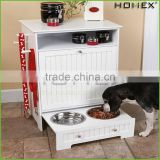 Wood MDF Dog Food Storage Station Pet Feeder Homex_BSCI Factory