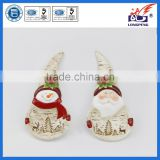 Dolomite Santa & Snowman Spoon Rests Holder