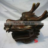 table bronze dragon head statue for home deocr