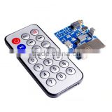 MP3 +WAV+WMA Decoder Board 2W Amplifier TF Card Audio AUX WITH Remote Control