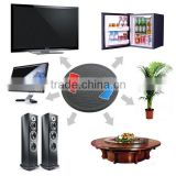 360 degree plastic lazy susan, plastic monitor tv turntable, multi purpose tv table