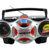 Portable CD Boombox cassette record player with radio