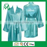 Kimono silk satin bridesmaid robe sleepwear for women