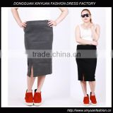 Custom Women Plus Size Clothing Knitted Long Pencil Skirts,Latest Plus Size Pencil Skirts For Fat Women