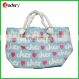 Cotton Canvas Bag With Cotton Rope Handle