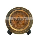 custom zinc alloy antique brass 50th anniversary souvenir metal plate