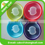 Silicone kids bowl with Translucent Suction Lid for food