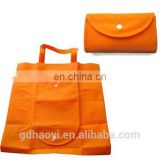 Cheap Different color 210T polyester printing fashion fold shopping bag