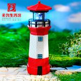 Solar lighthouse SOLAR POWERED LIGHTHOUSE GARDEN LIGHTHOUSE ORNAMENT WITH ROTATING LED
