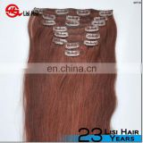 Unprocessed Wholesale Cheapest Human Hair Pieces Full Head Cheap Colored Clip In Hair Extensions