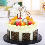 Latest rhinestone cake ornament wedding cake insert card wedding decoration