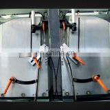 Barcode printer equipped 3 axis cnc aluminum profile double head cutting saw machine