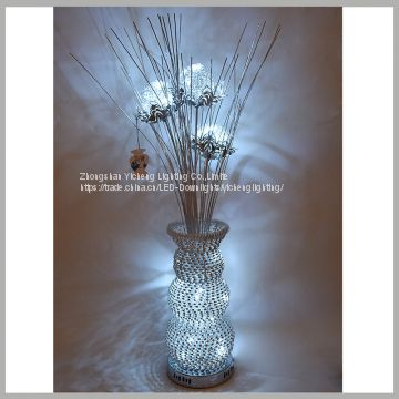 WUFU wholesale home decor flower vase led table lamp