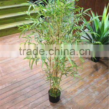 Home garden for hotel decoration 140cm Height making artificial live plastic green bamboo bonsai tree EZZPZ06 0201