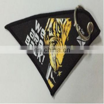 embroidery keychain Patch custom badge emblem customized for promotional company logo