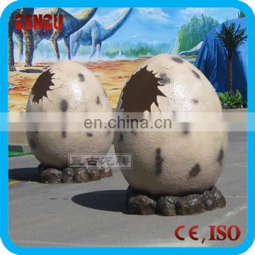 Amusement park fiberglass dinosaur egg for decoration