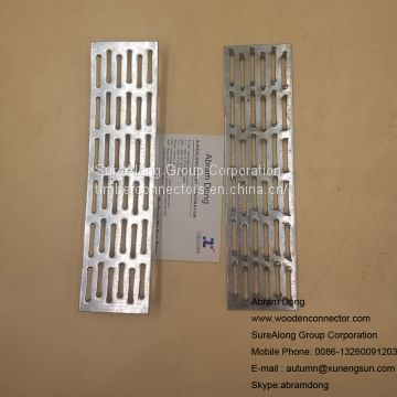 Gang nail truss plate for wood building connector
