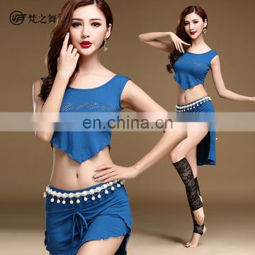 T-5126 New arrival fashion sexy sleeveless modal bellydance costumes