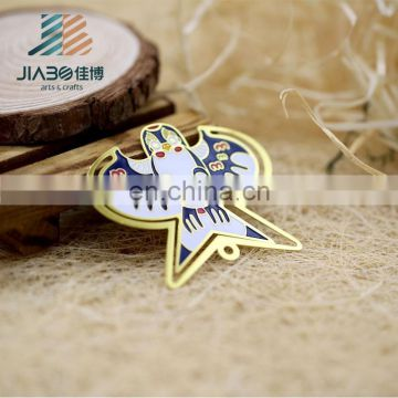 Jiabo custom made eagle shape crafts metal beautiful bookmark for books