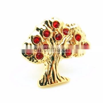 Event Gift Christmas Tree Lapel Pin Rhinestone pins