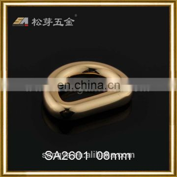 Personalized Metal Small D Ring For Shoe Or Garment, Gold Plated Small D Ring