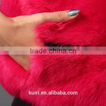 2016 Winter New Arrive Female Natural Fox Fur Coat with rex rabbit fur sleeve Outerwear 4 Colors Elegant Quality FurJacket cloth