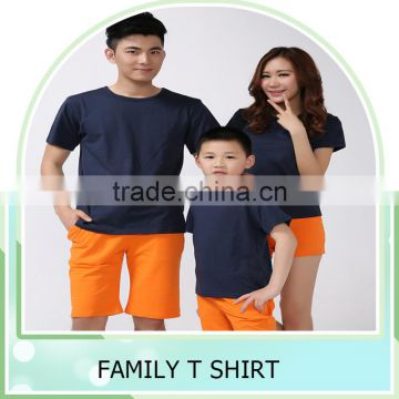 new fashion 2016 summer childrens t-shirts for family clothes mother father son family t shirts cotton parent-children tops