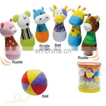 plush animal bowling set /Other Baby Toys/baby toy bowling, baby toy bowling