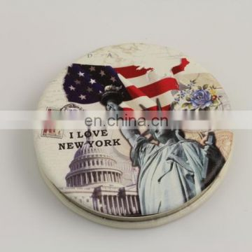 HOTEST POPULAR MAKE UP ROUND COSMETICS AMERICAN SOUVENIR MIRROR