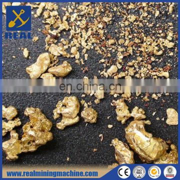 Fine gold recovery from black sand concentrates sluice box fine gold recovery