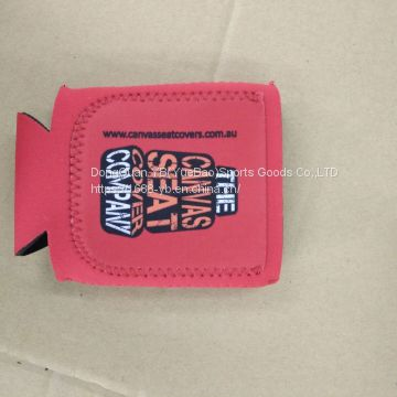 Fashion neoprene stubby holder with pocket