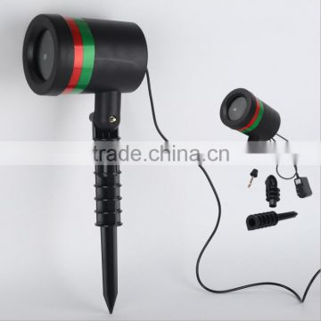 Red and green outdoor indoor christmas laser projector light