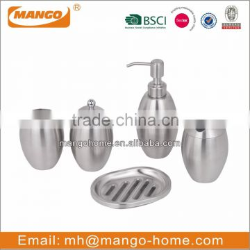 Unique Elegant Stainless Steel Bathroom Set