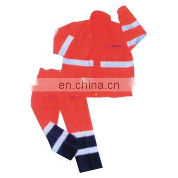 a set of red Hi Vis reflective coveralls work wear