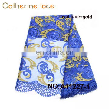 Catherine Wholesale Dubai Hot Selling Fashion Embroidery African French Lace Fabric